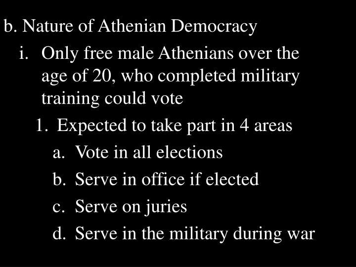 b. Nature of Athenian Democracy