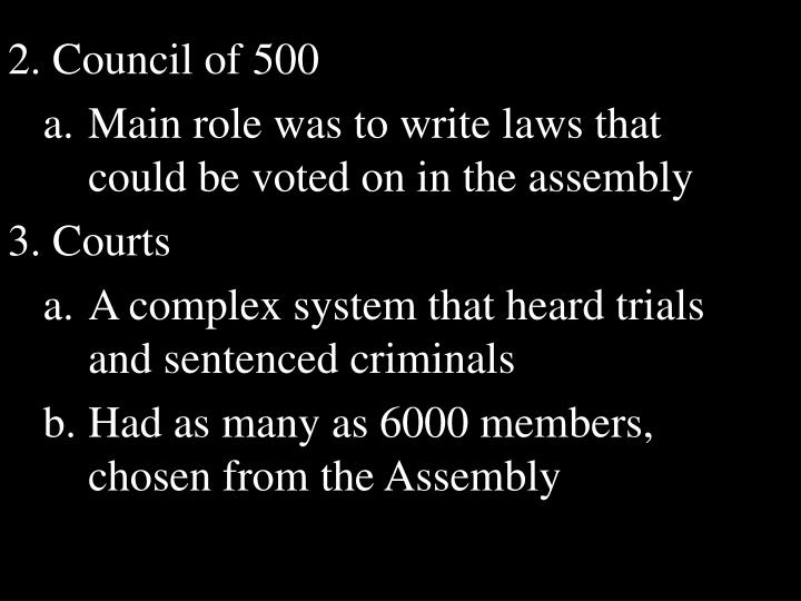 2. Council of 500