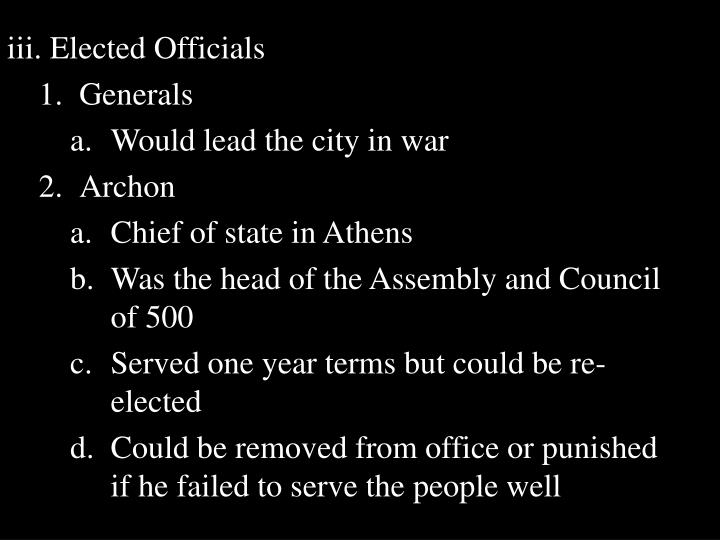 iii. Elected Officials