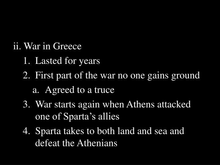 ii. War in Greece