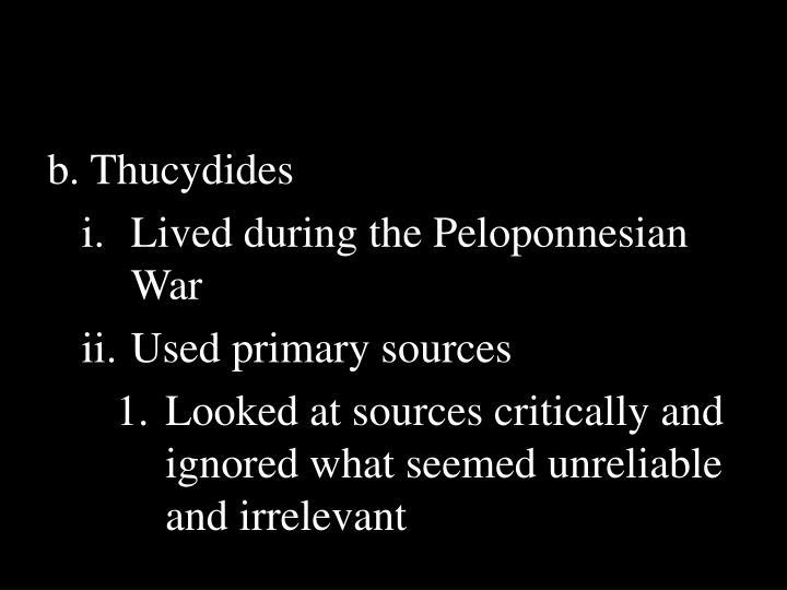b. Thucydides