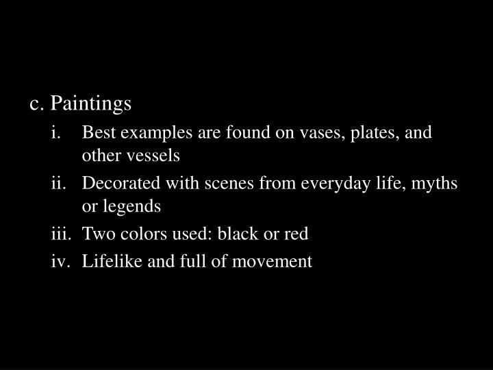 c. Paintings