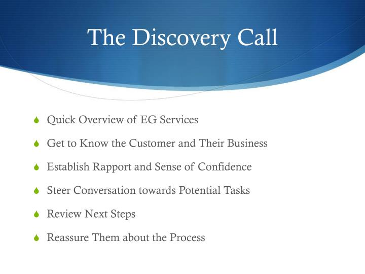 The Discovery Call