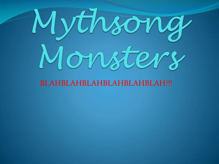 mythsong monsters