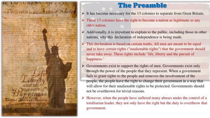 The Preambl