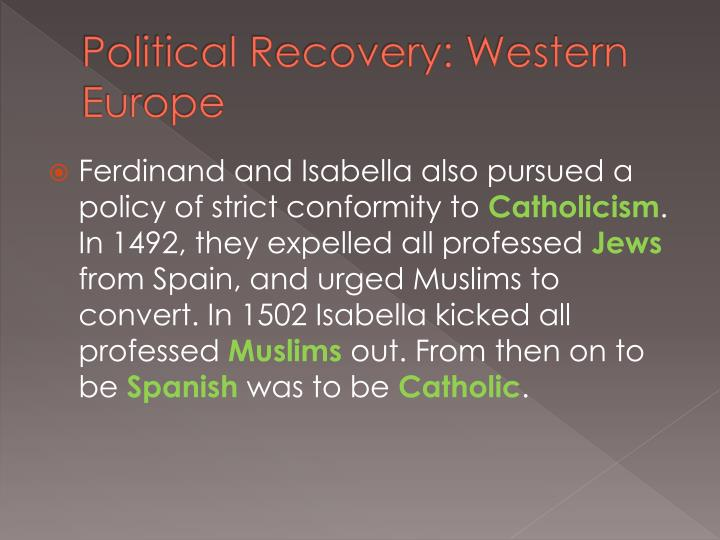 Political Recovery: Western Europe