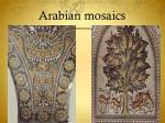 arabian mosaics