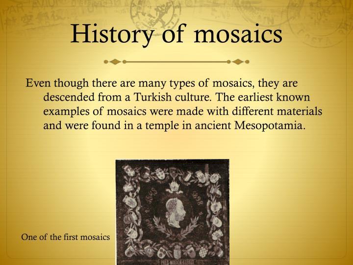 History of mosaics