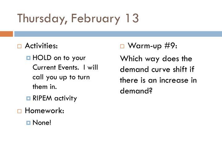 Thursday, February 13