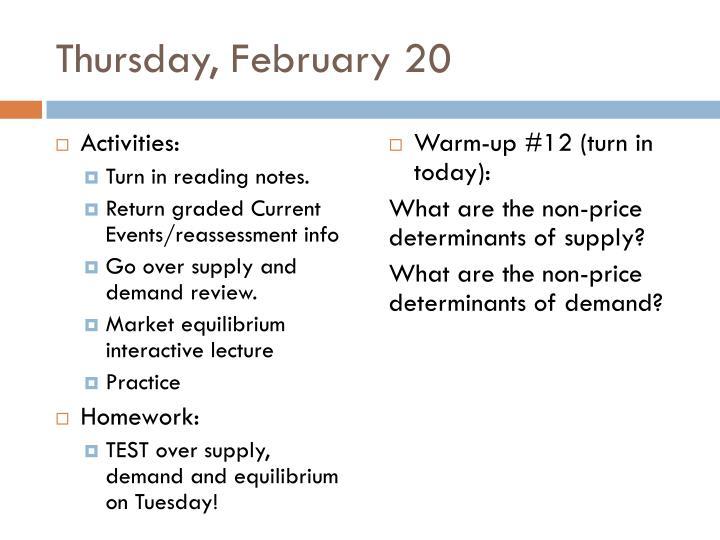 Thursday, February 20