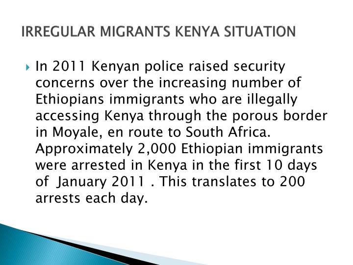 IRREGULAR MIGRANTS KENYA SITUATION