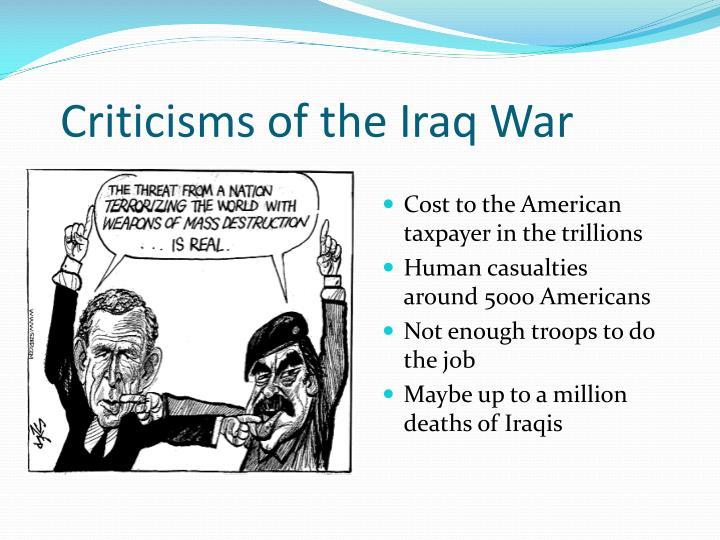 Criticisms of the Iraq War