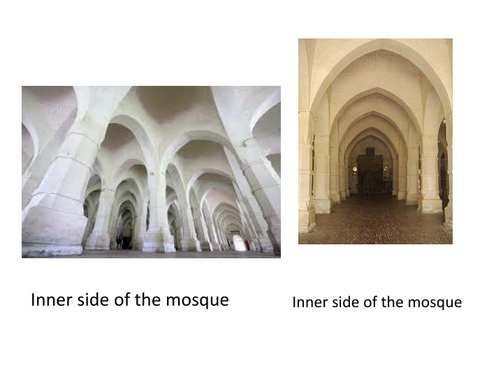 Inner side of the mosque