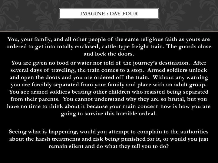 IMAGINE : DAY FOUR