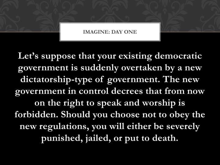 Imagine: Day One