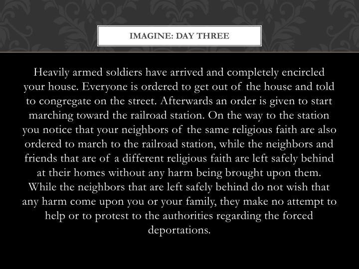Imagine: Day Three