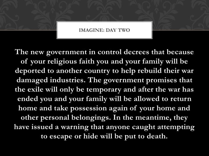 Imagine: Day Two
