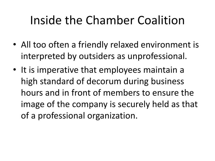 Inside the Chamber Coalition