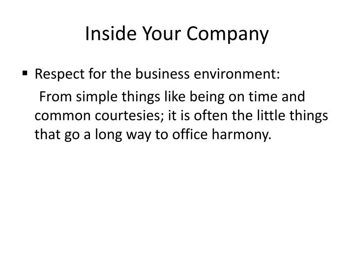 Inside Your Company
