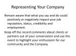 representing your company5