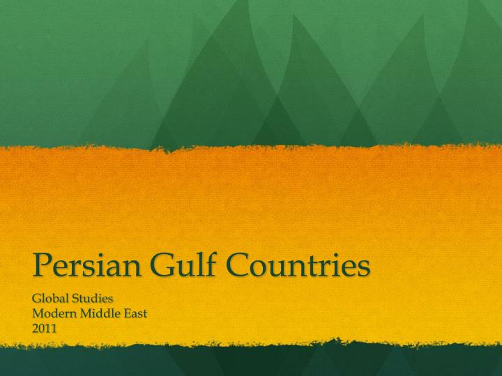 Persian gulf countries