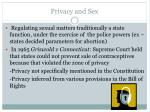 privacy and sex