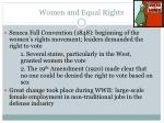 women and equal rights