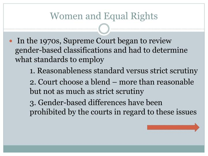 Women and equal rights1