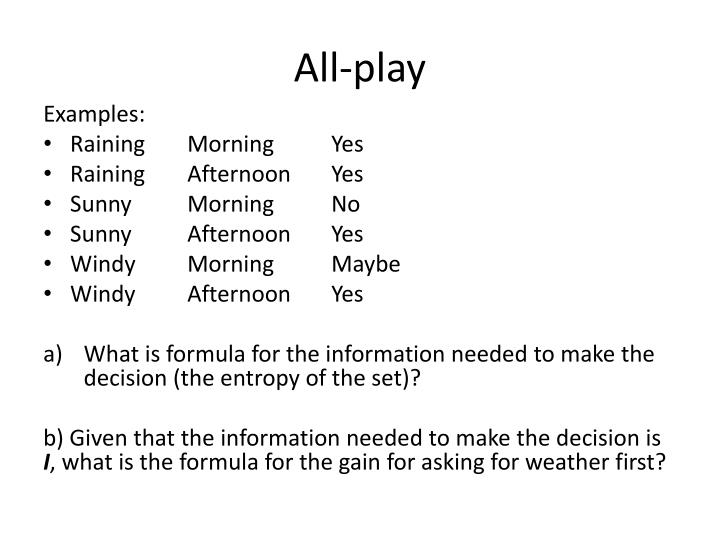 All-play