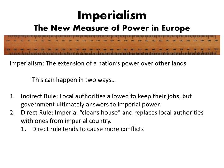 Imperialism the new measure of power in europe