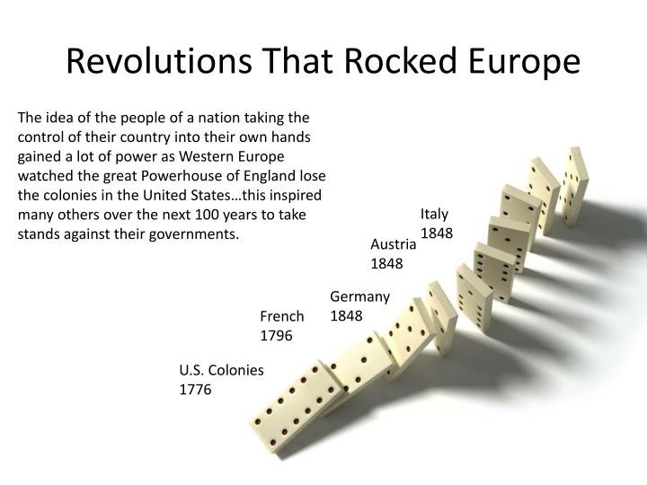 Revolutions that rocked europe