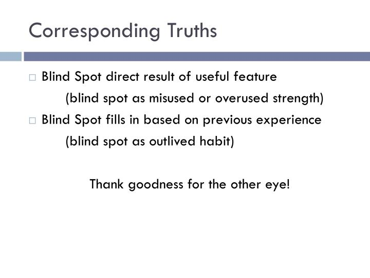Corresponding Truths