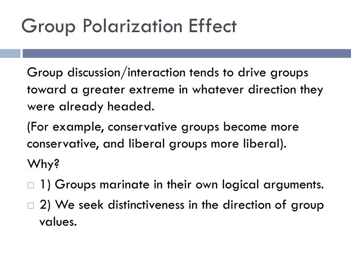 Group Polarization Effect