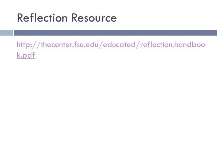 Reflection Resource