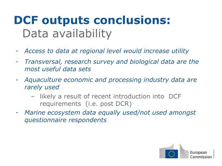 DCF outputs conclusions: