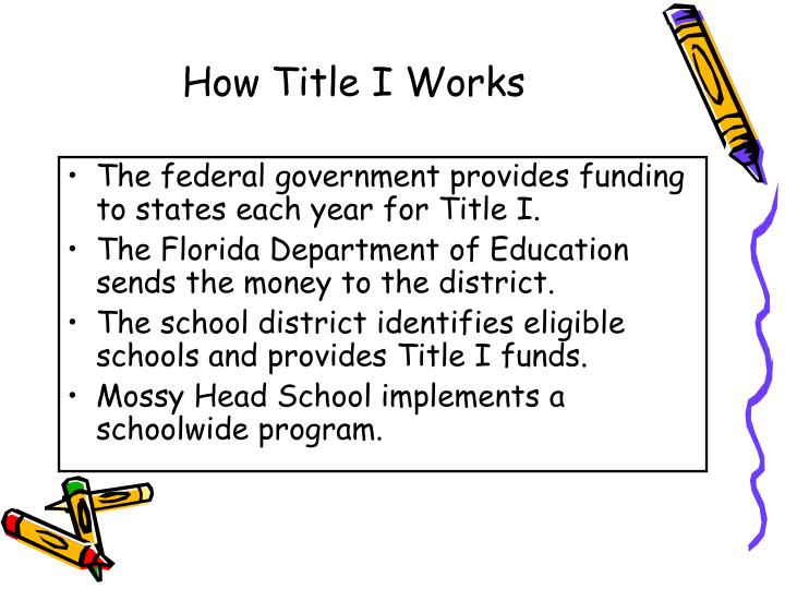 How Title I Works
