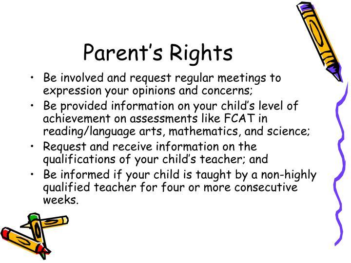 Parent's Rights