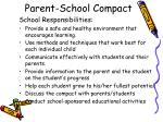 parent school compact