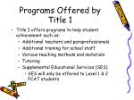 programs offered by title 1