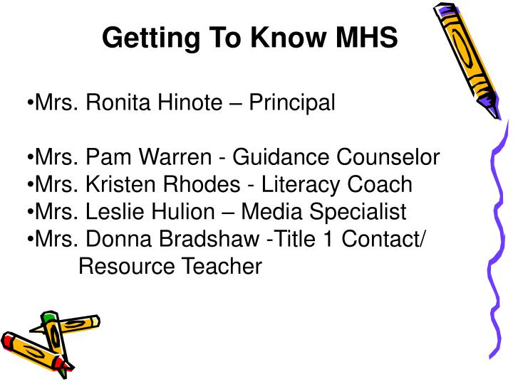 Getting To Know MHS