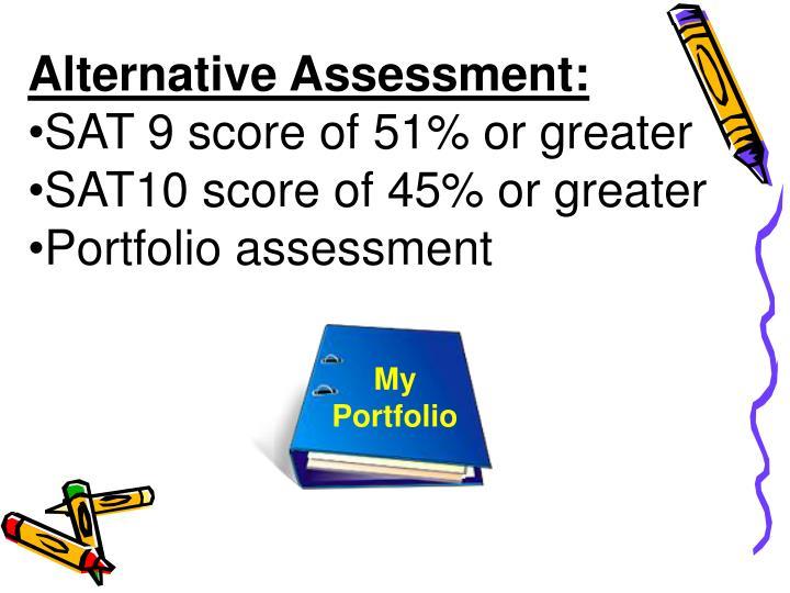 Alternative Assessment:
