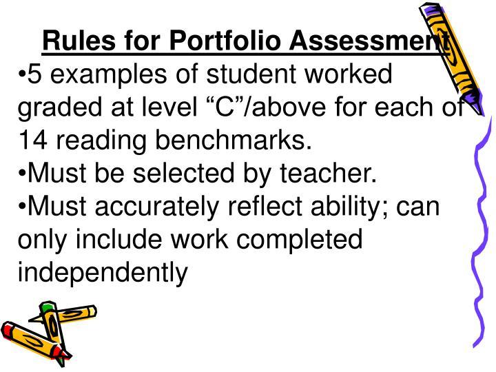 Rules for Portfolio Assessment