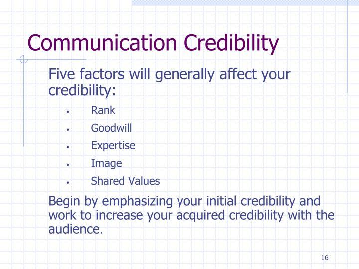 Communication Credibility