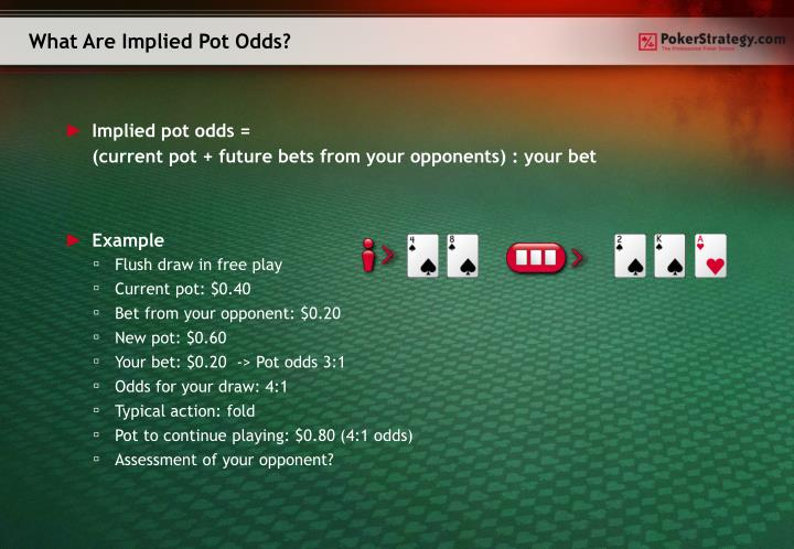 What Are Implied Pot Odds?