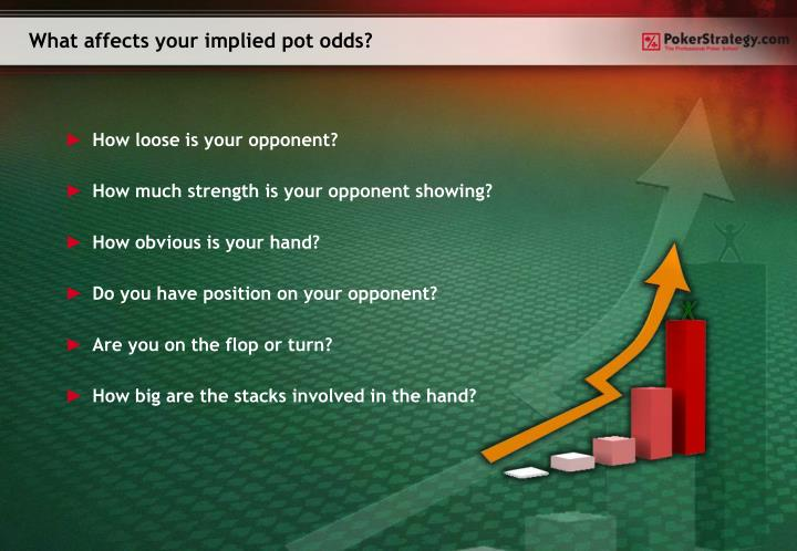 What affects your implied pot odds?