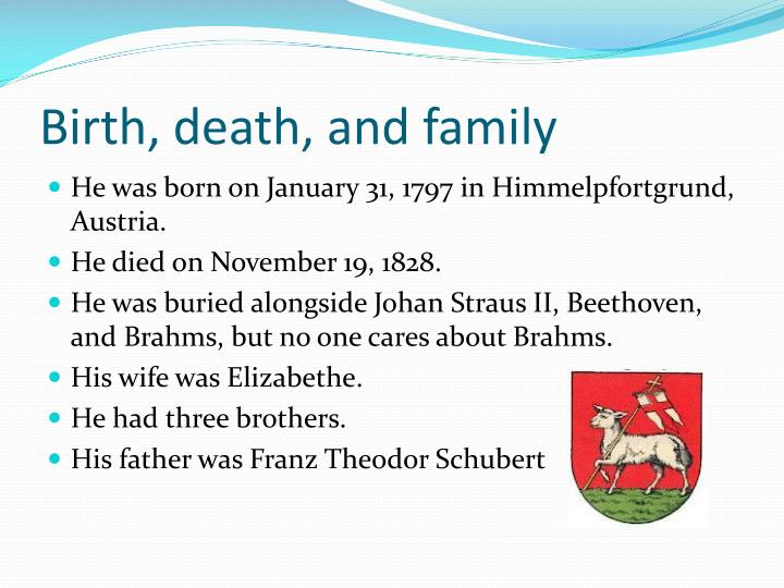 Birth, death, and family
