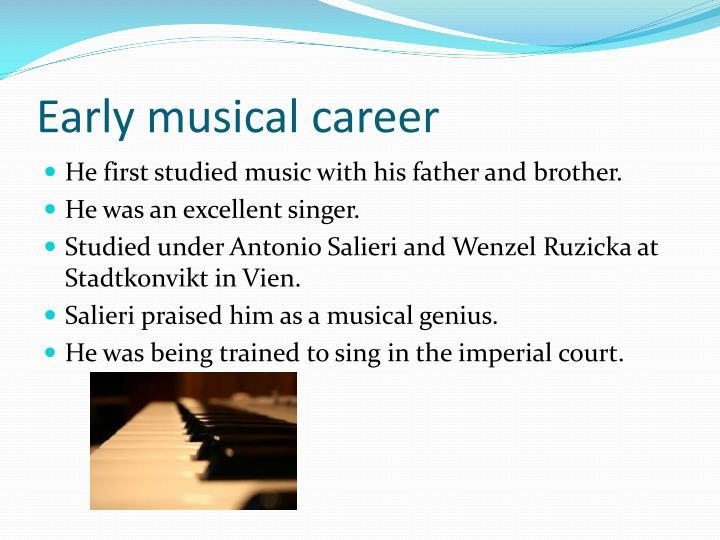 Early musical career
