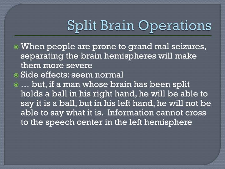 Split Brain Operations