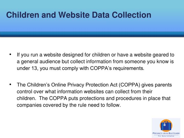 Children and Website Data Collection