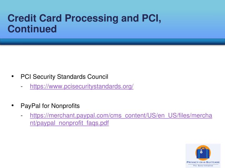 Credit Card Processing and